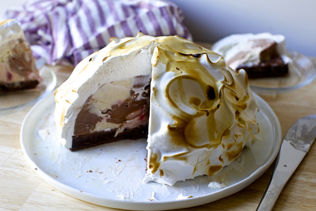 Baked Alaska Cake On Fire