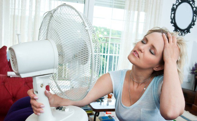 Use a fan to cool your body off from fever