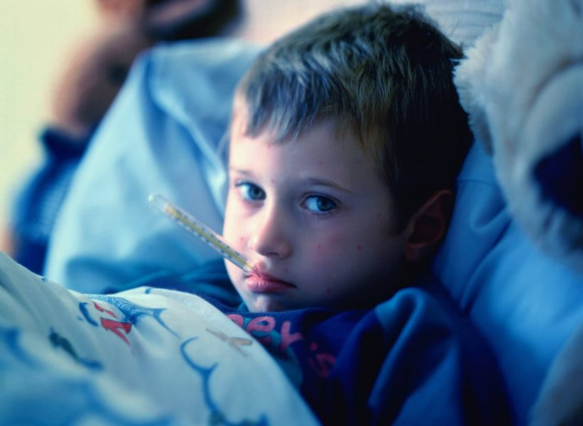 keep your child in a cool fresh place to reduce the effect of fever