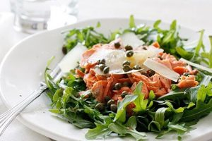 Canned Salmon arugula Salad