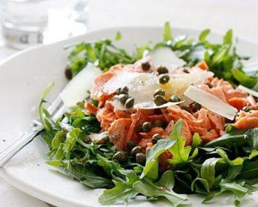 Canned Salmon arugula Salad