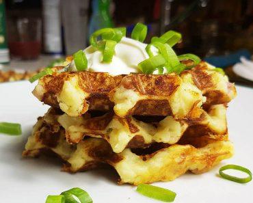 Mash potato waffles