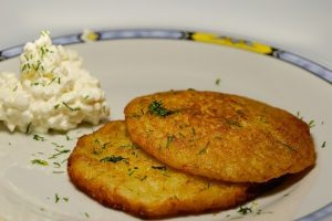 Potato pancakes from mashed potatoes