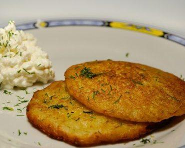 Potato pancakes from mashed potatoes